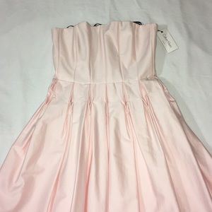 Calvin Klein strapless pink dress